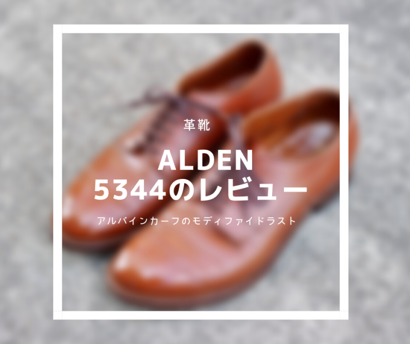【革靴紹介】Alden 5344 Review:アルパインカーフのモディファイドラスト。